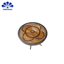 Quality Products decorative round table top glass