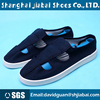 Navy blue cotton canvas antistatic shoes with PU sole four hole anti-static shoes cleanroom esd shoe