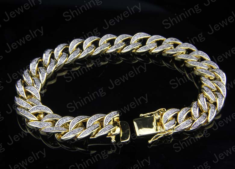 Micro pave hip hop lab created diamond miami cuban link for Custom lab made hip hop jewelry