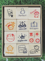 best price Custom wooden stamp teacher stamp set for kids