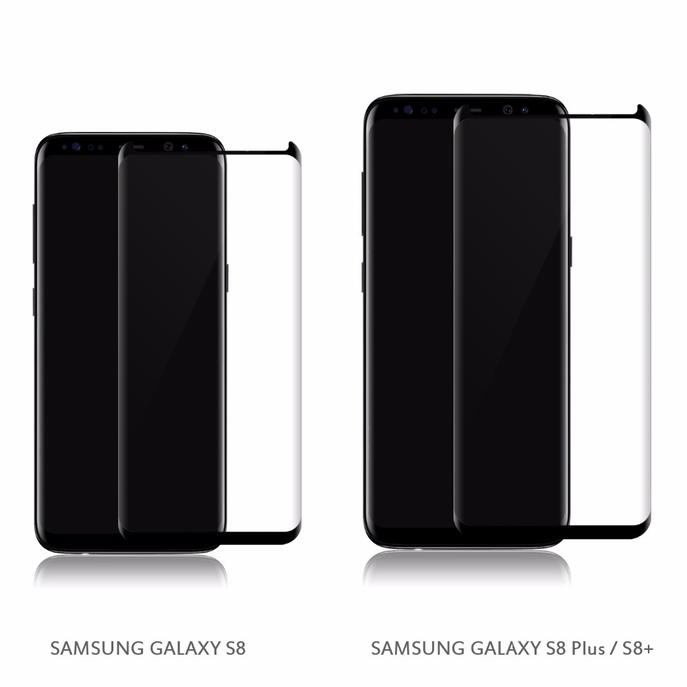 VMAX-Galaxy S8 Protector Tempered Glass for Samsung Galaxy S8 3D Curved / Samsung galaxy S8 Plus Tempered glass screen protector