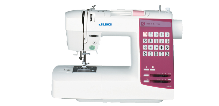 Juki HZL-K65 is a household sewing machine with 20 direct pattern selection.
