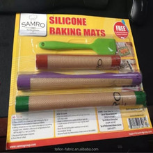 Healthy Food Grade Nonstick Silpat Silicone Baking Mat Set of 3 with High Quality