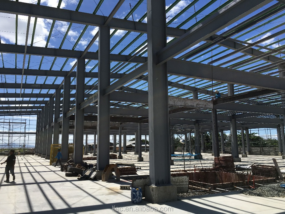 low cost steel structure space frame for workshop
