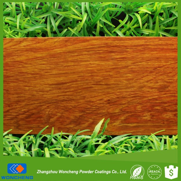 Real natural wood effect sublimation polyester powder coating with semi glossy level