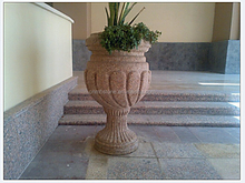 Granite stone flower pot for gardents,vase,
