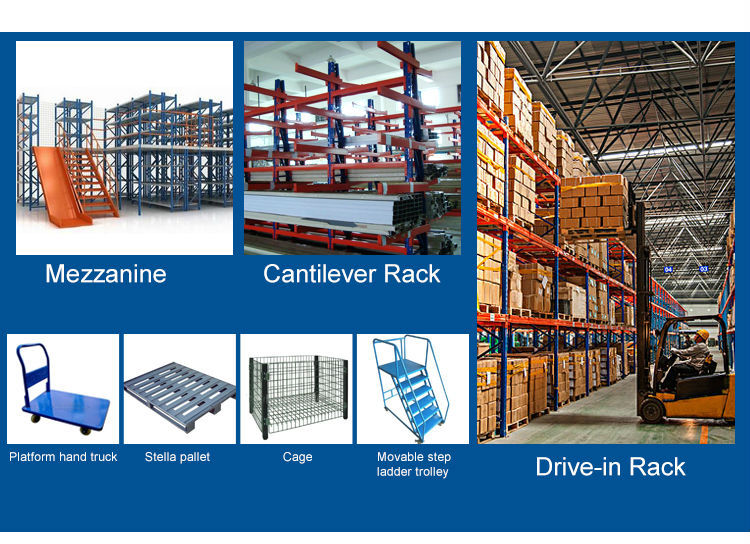 Heavy duty pallet rack for warehouse