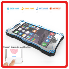 Aluminumn Metal Diving Underwater shockproof Phone Case Cover heavy duty waterproof for Iphone 6 6s plus