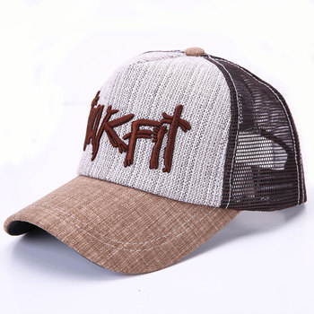 Korea Style Embroidered Trucker Baseball Cap For Unisex