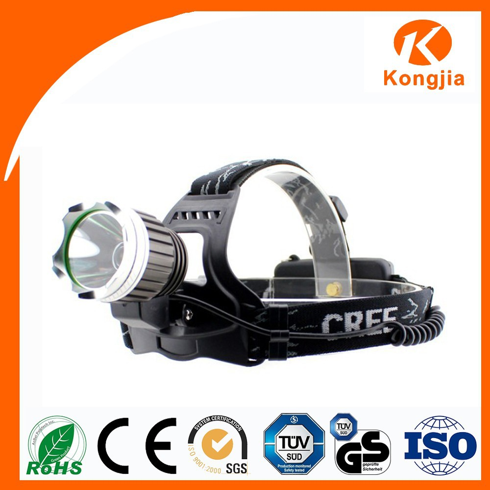 Factory Manufacturing KJ-C9003 Rechargeable Ultra Bright Light Aluminum Alloy Led Cordless Mining Cap Lights