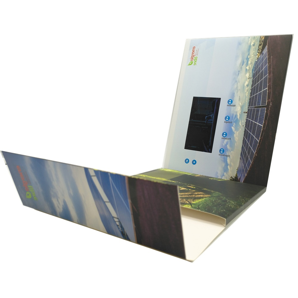 Wearable decoration 4.3 inch paper crafts lcd video brochure video business card for business gifts