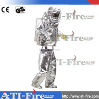 CE certificate aluminum foil heat resistance fire approaching anti fire suit
