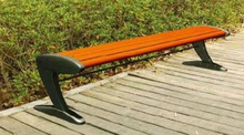 WPC outdoor furniture bench with cast aluminum legs