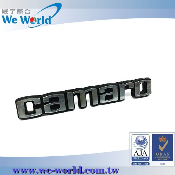 Hot sell quality automotive products customized chrome metal badges for cars