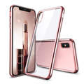 electroplate tpu for iphone x case, ultra-thin electroplate tpu back case