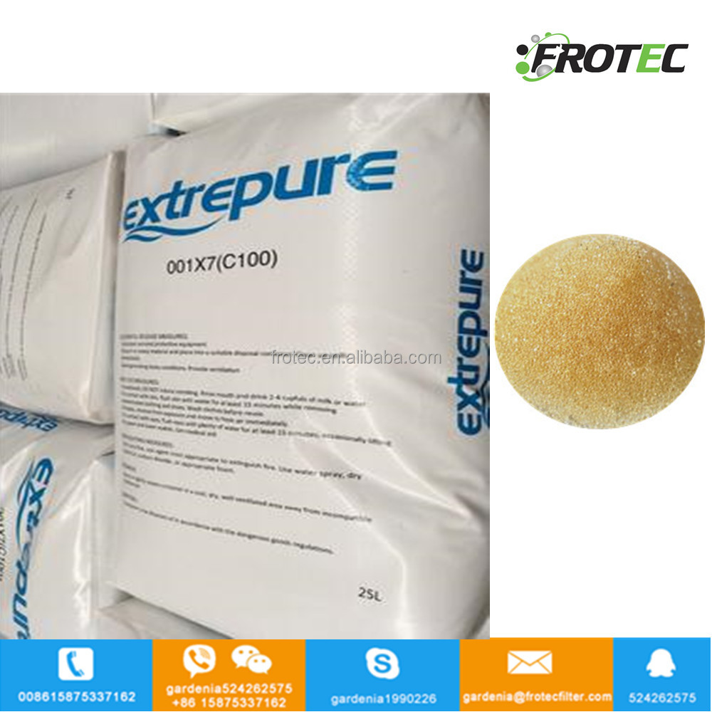 Extrepure Strong Acid Cation 001x7 Ion Exchange Resin Price For Water Filter System Buy Resinion Priceion