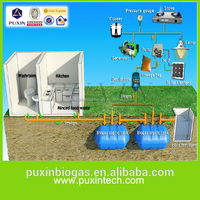 PUXIN biogas septic tank for home sewage treatment