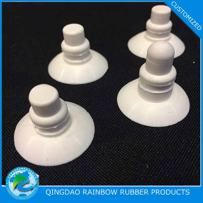 Silicone rubber sucker for glass