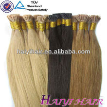 6A, 7A, 8A 100% human hair factory price russian remy grey stick tip itip hair extension