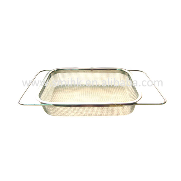 Expandable Rectangular Colander, mesh colander, over-the-sink colander