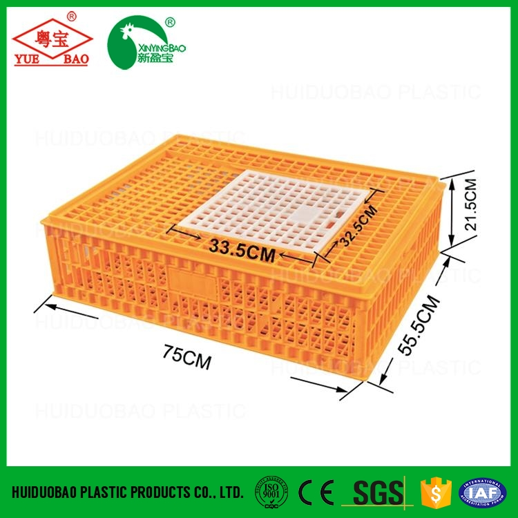 New design canary bird cage, plastic broiler transport cage, poultry crate for transportation