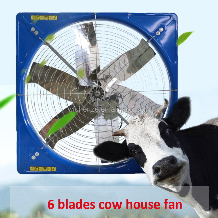 Cow house/cattle shed roof hanging ventilation fan for cow cooling