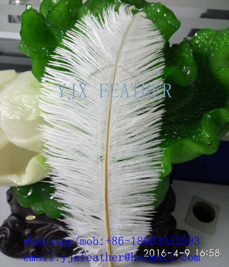 25-30cm artificial white ostrich feather