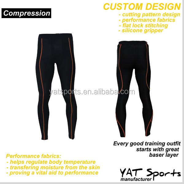 custom cutting panel design workout tights sports garment