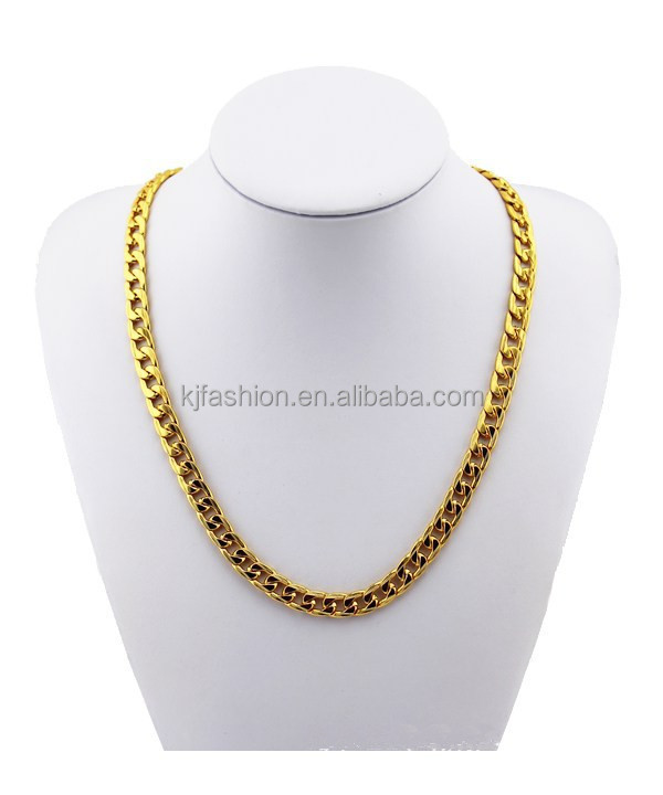 Fashion 18K Gold plated necklace for men