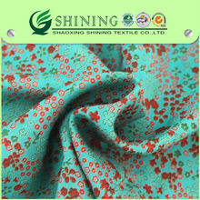 newest custom women rayon discharge printed fabric
