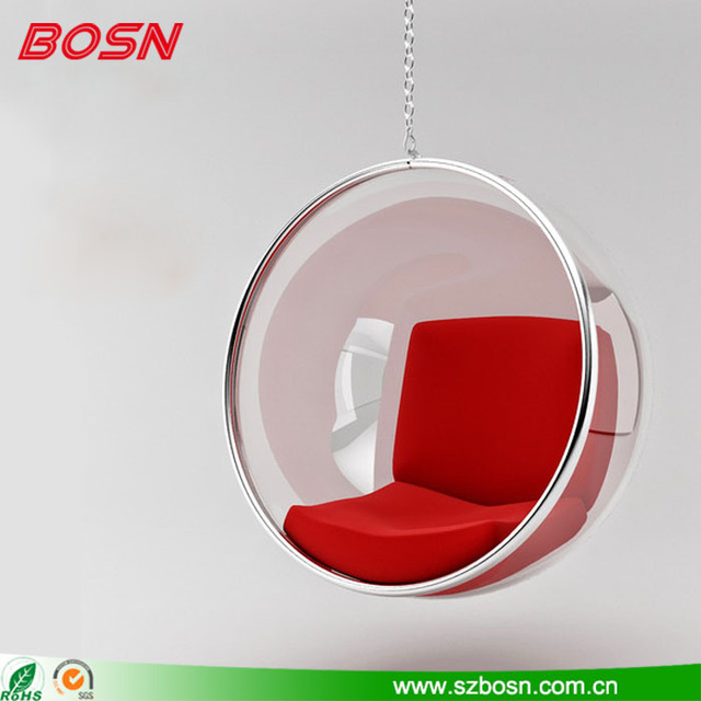 High Quality Round Shape Clear Acrylic Hanging Bubble Chair