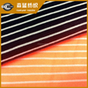 polyester rayon yarn dye stripe Terry cloth fabric for sports wear