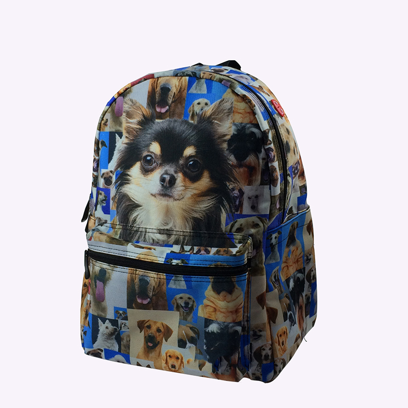 Chinese Supplier 15 Inch Cute 3D Zoo Animal Printing School Bags Backpack for Primary School High School