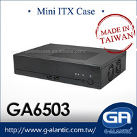 GA6503 - supreme quality of industrial mini itx pc with aluminum front panel