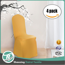 Beautiful home interior cafe salon polyester solid chair cover