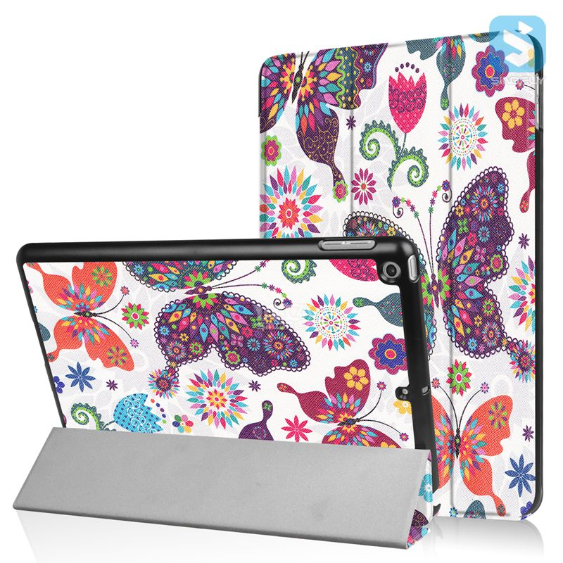 Printed PU Leather Case for APPLE iPad 9.7 2017, for new ipad 9.7 case