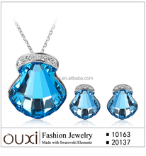 OUXI 2015 Fashionable earring and necklace jewelry set S-2015
