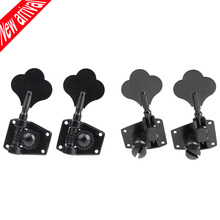 4pcs/set 4R Black Electric Bass Tuners Machine Heads Tuning Pegs Keys Set With Mounting Screws & Ferrules Guitar Parts