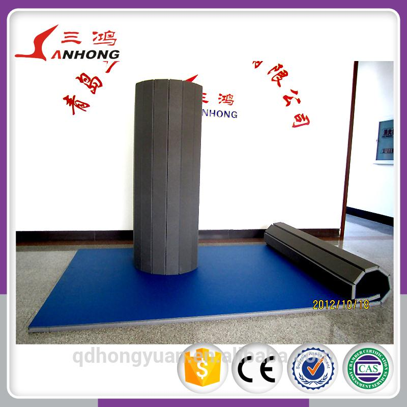 2015 floating foam mat, roll cheerleading mat/flexi roll gymnastic mats/ gym floor mat