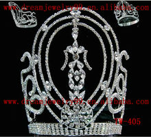 fancy rhinestone big pageant crown for sale