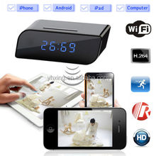 Wireless Wifi IP 720P HD Spy Hidden Clock Camera IR Security Network Web Cam DVR