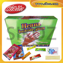 SIKOZ Brand HOT SELL GUM!Happy Tattoo Gum/ Rocket Sticker Tattoo Bubble Gum/ Chewing Gum With Tattoo