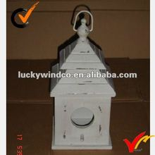 French country antique finish double roof wooden decor bird house