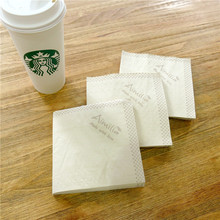 High-Grade 1/4 Fold Bamboo pulp Printed Paper Cocktail Napkins