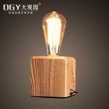 Handmade bedroom table lamps warmer reading lamps innovative diy wood desk lamp