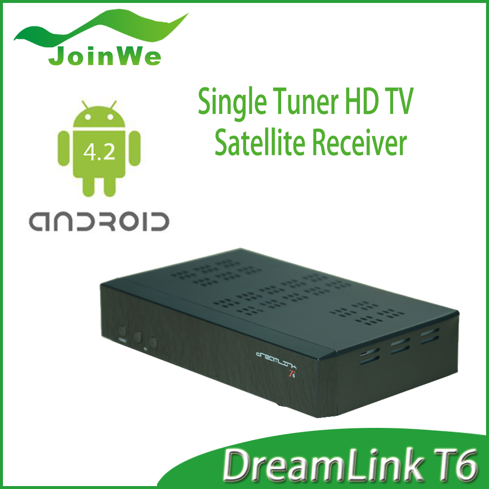 2016 Best And Newest Android DVB S2 FTA Receiver dreamlink hd T6 Android DVB-S2 Tuner for North America