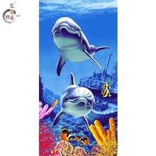 Manufacturer customized printing no border sexy peri dolphin bath towels