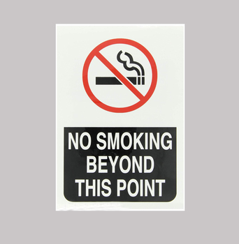 High Quality Acrylic No Smoking Sign Board