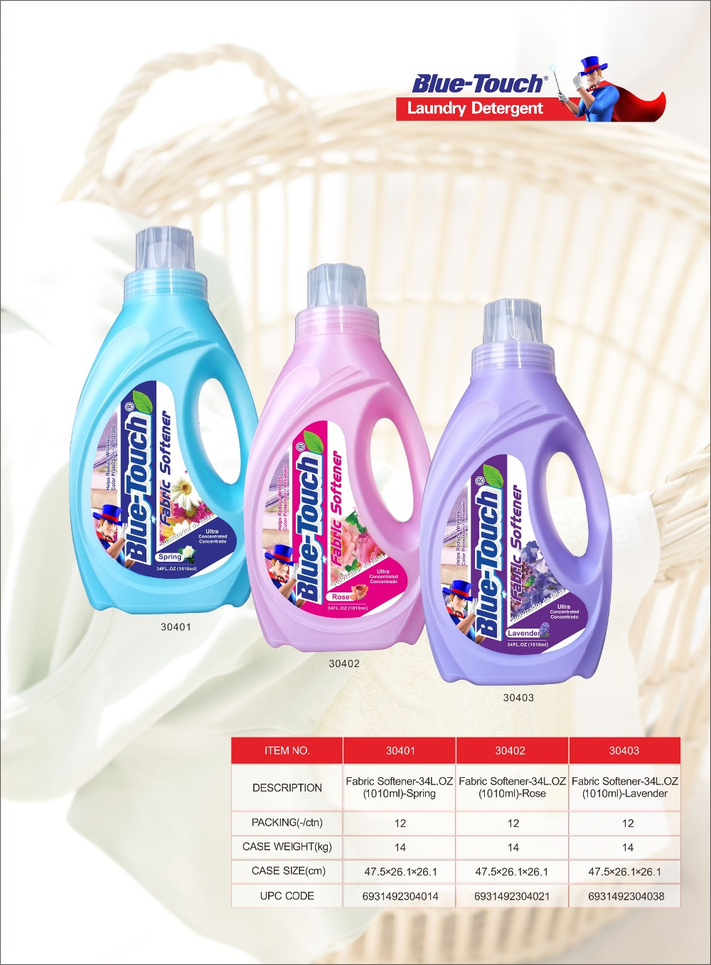 Fabric Refresher & Softener for clothes LAVENDER ROSE SPRING