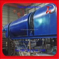 Low price wood sawdust groundnut recycle Continuous carbonization furnace